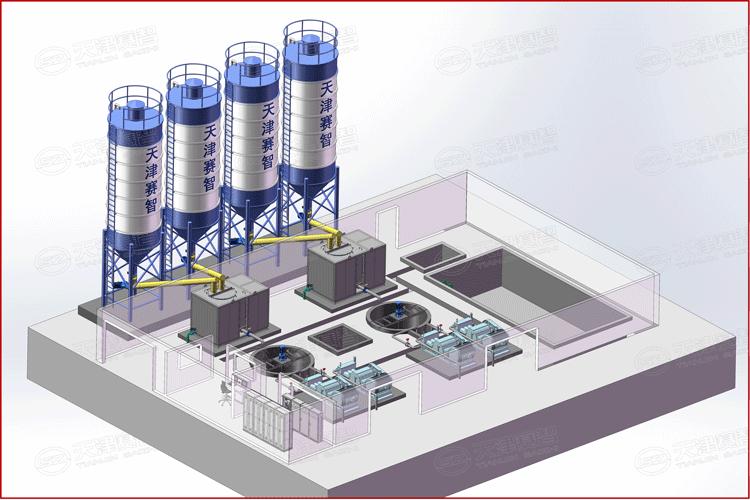 高速涡流制浆系统布置示意图