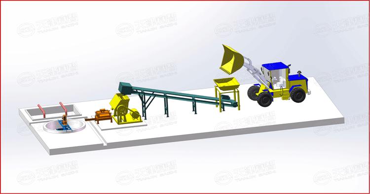 黄泥制浆系统布置示意图